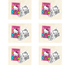 HELLO KITTY PARTY SUPPLIES  FAVOURS 6 COLOURING BOOKS (20 PAGES)