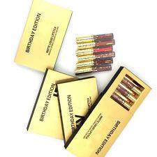 6Pcs Gold Mini Sexy Matte Liquid Lipstick Waterproof Lip Gloss Set Kit Cosmetics