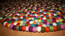 LONDON Round Felt Ball Rug/Carpet 90 CM..100% New Wool & Handmade