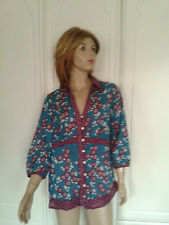 PER UNA FLORAL & SPOTTED TOP SIZE 16 TEAL,WHITE,MAROON