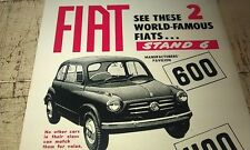 1956 FIAT 600 & 1100 and ROVER 90  Australian   Sales Advert