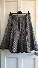 Principles Black White Monochrome Wool Blend Flippy Ladies Winter Skirt Size 10