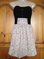 ❤️ Womens Miso Strapless Floral Dress Size 8 ❤️