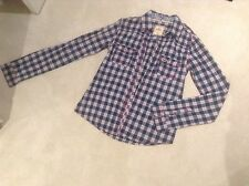 Hollister Womans Shirt Size Small Checked Pattern