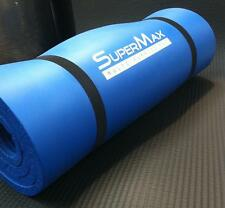 14mm SuperMax NBR Non-Slip Exercise Gym Pilates Fitness Yoga Physio Mat - BLUE
