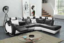 Das moderne und stillvolle Ecksofa Airzone C aus Kunstleder 04