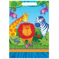Party Supplies Birthday Decorations Jungle Animals Loot Bags Pack of 8
