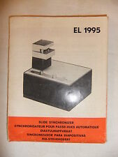 Instructions slide projector SYNCHRONIZER PHILIPS EL 1995 - CD/EMail