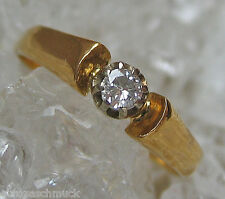 ►Solitärringe Brillantringe aus Gold Ring Brillant Ring mit Diamant Solitär Ring