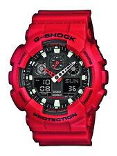 Casio G-Shock Herrenuhr GA-100B-4AER rot  NEU