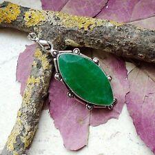 Indischer Smaragd, Anhänger, Silber plattiert