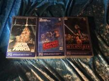 STAR WARS X 3 VIDEOS CBS FOX  VHS VIDEO PAL~ A RARE FIND
