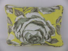 Shabby Chic Designers Guild Rosenhlom Yellow Grey Rose Floral Cushion & Pad