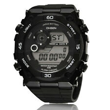 Mens Womens Digital Military Calendar Sport Chronograph Reloj Watch Quartz White