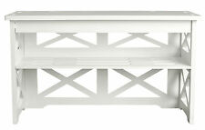 WPC Shoes Rack storage waterproof bench seat organiser shelf holder stand WHITE
