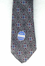 Mans vintage tie Tootal UNUSED 1950s BLUE LABEL QUALITY red & blue circles