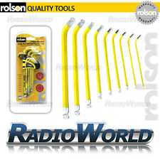 Rolson 9pc Imperial Long Arm Ball End Hex Allen Key Set with Holder Car Garage