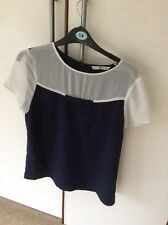 TU navy/white Top With Short Sleeved And Bow Detail 12