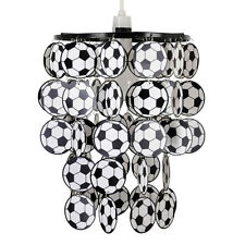 Boys Kids Bedroom Black & White Football Ceiling Light Pendant Shade Lampshade