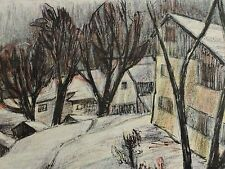 Gottlieb OSTERWALDER (1908-1988) num. + signiert Farb-Lithographie:  DER WINTER