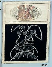 Hoff Interieur Wall board Easter activities wooden and Slate 30 x 40cm New