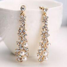 NEW Bridal Silver Jewellery Angel Wings Crystal Ear Stud Earrings 1Pair Gift