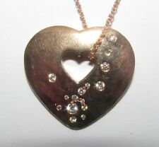Wempe Lovely 18ct Rose Gold Heart Pendant With Diamonds