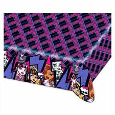 Monster High Plastic Tablecloth Girls Teenager Birthday Party Table Purple Black