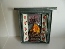 (HP1.18) DOLLS HOUSE RESIN FIREPLACE