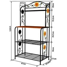 Metal Bakers Rack 49-Inch 4 Tiers Storage Rack Etagere Style Shelf Kitchen