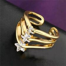 Women Fashion Jewelry Charm CZ 18K Gold Filled Crystal Ring Wedding One Size
