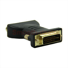 Black Standard DVI-I 24+5 Male to 3 RCA Female Connector Converter Adapter HOT