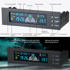 """5.25"""" Bay LCD Panel Computer LED Cooling Fan Speed CPU Temperature Controller UK"""