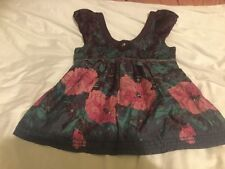 Monsoon Girls Top Aged 13 Purple Floral With Sequin Embellishment