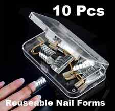 10Pcs Reusable French Tips Nail Art Extension Guide Form Tool UV Gel Acrylic