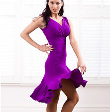 New Top Latin Dancing Dress Deep V-neck Dress Ladies Tango Ballroom Salsa Dress