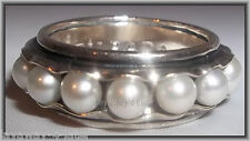 Silpada Nested Pearls Sterling Silver Band Size 9 Cuff Ring R2209 Bride Wedding