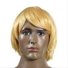 Fashion Blonde Men's Short Wig Male Hair Anime Cosplay Party Halloween Men Wigs