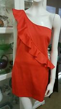 Bardot Cocktail Dress.Sz12.Rich orange.fully lined.As new condition.