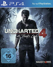 Uncharted 4 - A Thief's End (Sony PlayStation 4, 2016) - NEU & OVP