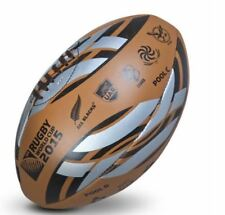 OFFICIAL RUGBY 2015 WORLD CUP GILBERT LEATHER 20 COUNTRY EMBLEM BALL SIZE 5