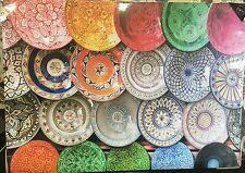 Vibrant Vintage Moroccan Plates Ethnic Style Canvas Picture Wall Art Hanging NEW