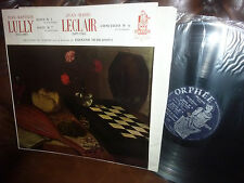 """Lully Suite No 3 & 7, Leclair Oubradous, Robert Gendre, Orphee France LP, 12"""""""
