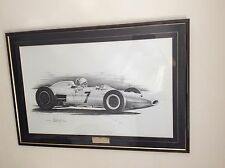 Sterling Moss Signed  Goodwood 1962 Lotus British F1 Driver Lewis Hamilton