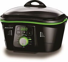 Charles Jacobs Electric Non-Stick 8 IN 1 MULTI COOKER IN BLACK & GREEN 1500W 5L