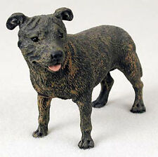 Staffordshire Bull Terrier Brindle Hand Painted Figurine Statues