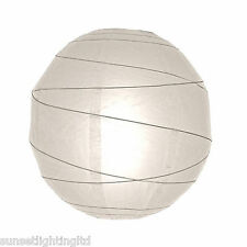 "6816 16"" White Paper Lantern Pendant Hanging Shade Light Bedroom"