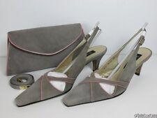 Jacques Vert Grey Suede Shoes & Bag ~ Sable Range ~Excellent Condition ~ UK 5