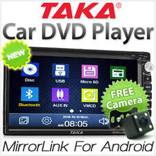 TAKA® Mirror Link Car DVD Player Double 2 DIN In Dash CD USB MP3 Stereo Radio KT