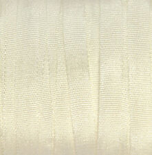Silk Ribbon for Embroidery 4mm - 3 meters White